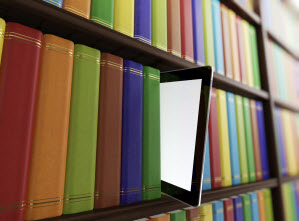 Tablet with books