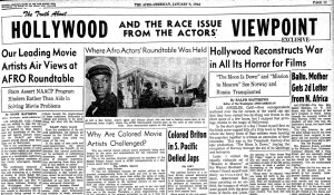 Matthews, R. (1943, Jan 09). The truth about HOLLYWOOD VIEWPOINT EXCLUSIVE AND THE RACE ISSUE FROM THE ACTORS. Afro-American (1893-1988)