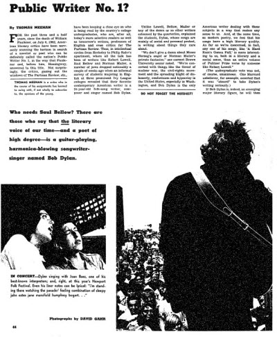 Bob Dylan, from ProQuest Historical Newspapers - The New York Times