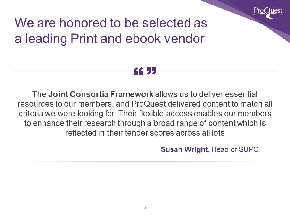 Joint Consortia Rankings Quote