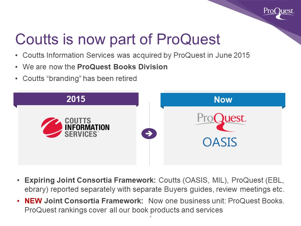 Coutts is ProQuest