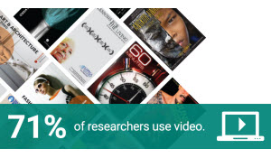 71% of researchers use video