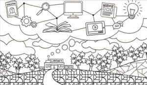Canadian Libraries Month coloring page