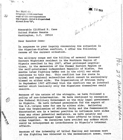Document from History Vault's Confidential U.S. State Department Central Files, 1960-1969, Africa and the Middle East