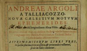 Andreae Argoli, A Talliacozzo