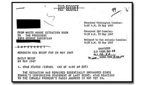 This Johnson-era PDB, dated 29 May 1967, on the 6 Day War, was declassified in 2004.