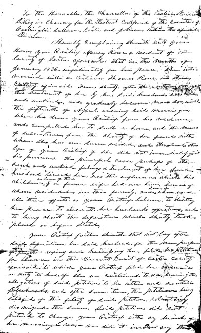19th century divorce petition