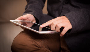 Man using iPad