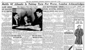 Baltimore's Sunday Sun Times magazine, February 7, 1942,