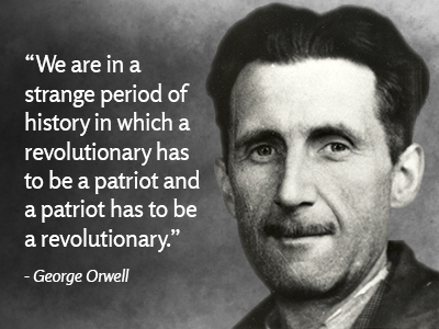 George Orwell quote: