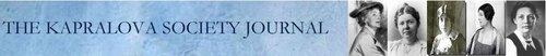 Kapralova Society Journal
