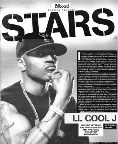 LL Cool J, Billboard, March 11, 2006, p. 31