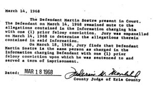 Court document regarding Martin Sostre