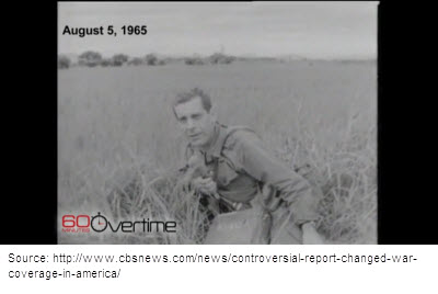 Morley Safer reporting from Cam Ne, Vietnam, August 1965