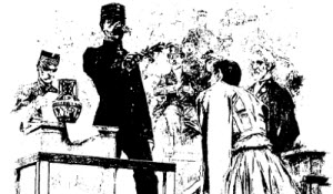 The king presenting the rewards - Olympic Games 1896