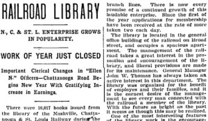 RAILROAD LIBRARY. (1904, Jan 10). The Nashville American (1894-1910)