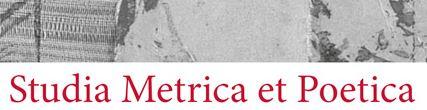 Studia Metrica et Poetica