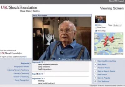 Visual History Archive platform