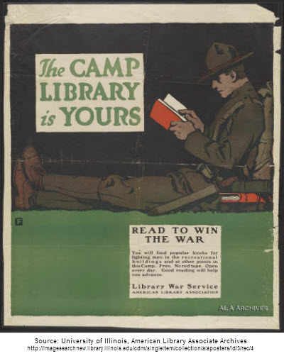 WWI Library War Service poster