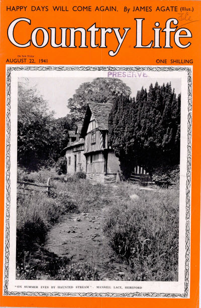 Cover of Country Life, August 22, 1941