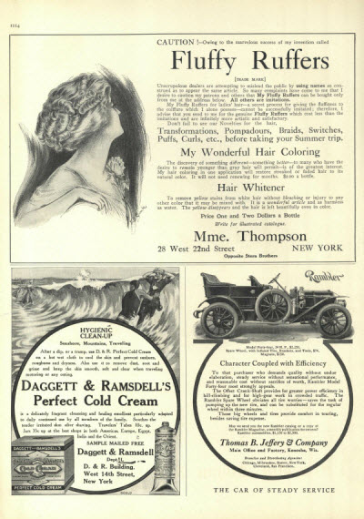 Advertisement for Fluffy Ruffers from Vogue June 24, 1909