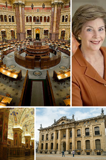 Laura Bush Library of Congress Vatican Library Bodleian Library