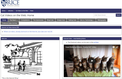 Cat Videos on the Web LibGuide