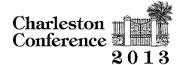 Charleston Conference 2013 logo