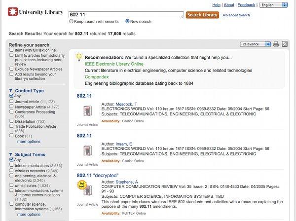 Database Recommender