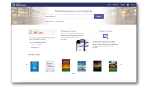 ProQuest Ebook Central homepage