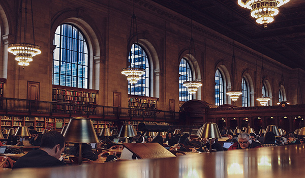 Researchers in library: Photo by Oscar Ovalle on Unsplash