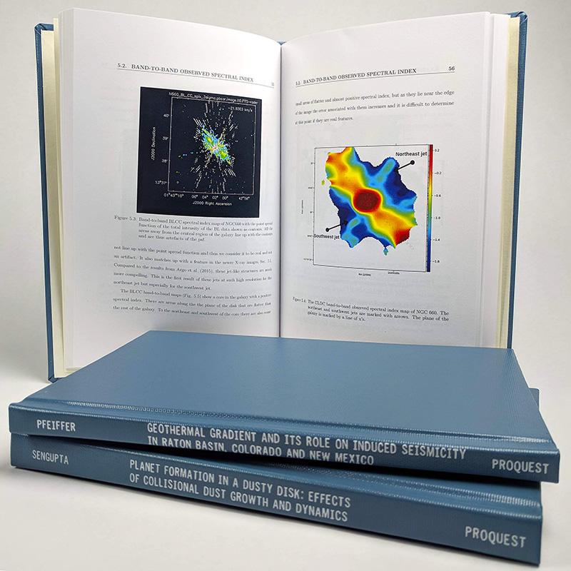 Sample ProQuest ETD print copy—Blue hardcover, 6 x 9