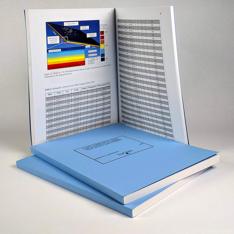Sample ProQuest ETD print copy—Blue softcover, 8.5 x 11