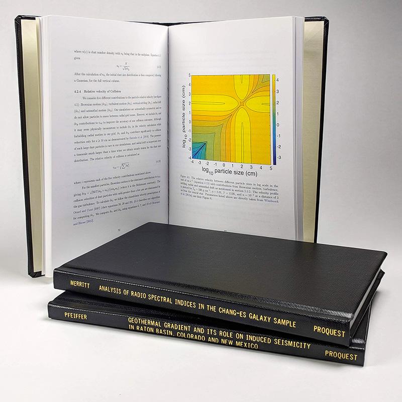 Sample ProQuest ETD print copy—Black hardcover, 6 x 9