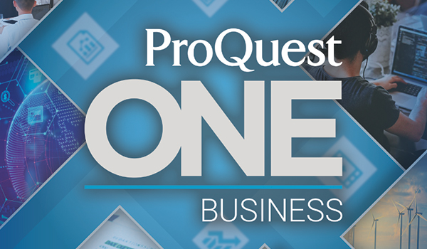ProQuest One Businesss is a solution designed to support the unique teaching and learning needs of business faculty and students.