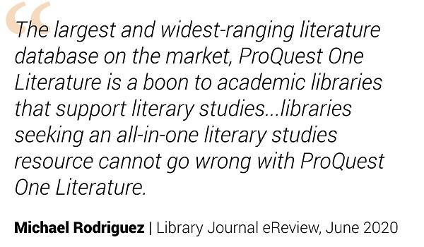 ProQuest One Testimonial Michael Rodriguez;