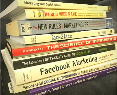 Library marketing books
