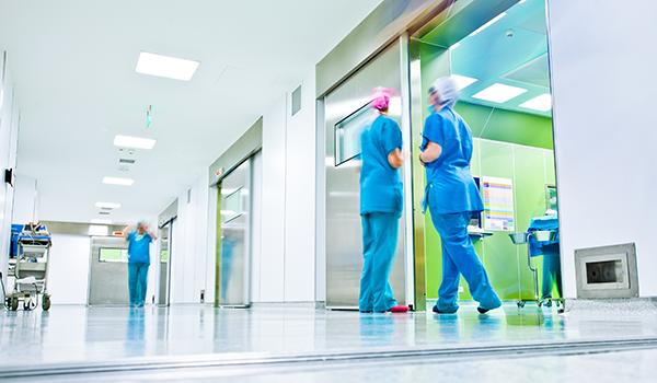 Doctors in coridor