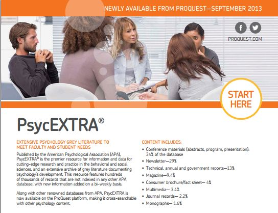 PsycEXTRA brochure
