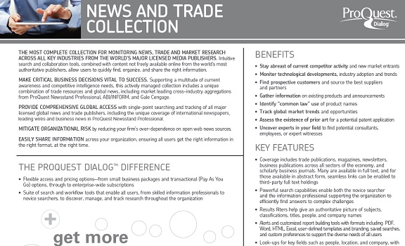 News and Trade Content Collection