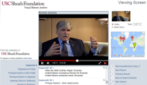 Visual History Archive: Testimony of Romeo Dallaire